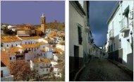 Le village de Jabugo (Huelva, Espagne)