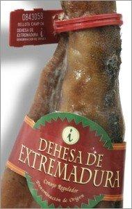Scellé et étiquette du jambon Dehesa de Extremadura